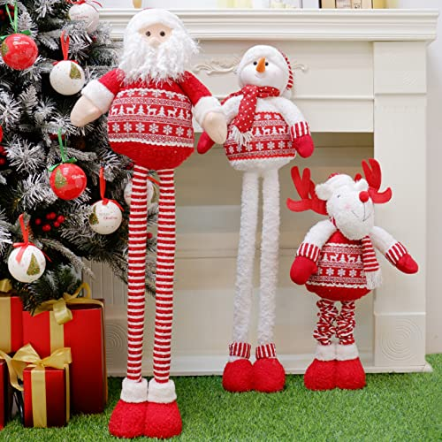HAPPY-HAT Riesige Größe GNOME Santa, Bartschmuck Plüsch Skandinavische Weihnachtszwerg Geschenke Weihnachtsmann Rentier Puppe Dehnbare Dekorationen 70cm 125cm