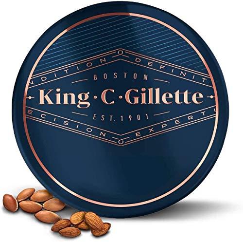 King C. Gillette Bartbalsam mit Sheabutter, Arganöl, und Kakaobutter für ideale Bartpflege, Beard Balm, 100...