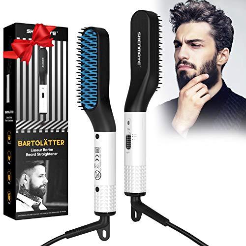 Bartglätter für männer, Bart Glätteisen Multifunktionale Schnelle Haarglätter Bürste für Bart und Haar,...
