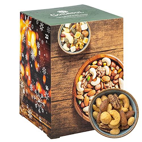 Corasol Premium Nuss-Mix Adventskalender XXL 2021 mit 24 verschiedenen Nussmischungen zum Knabbern & Snacken (720 g)