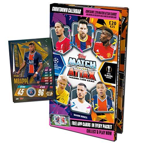 Topps Match Attax 2020/2021 - Fußball Adventskalender 2020, 120 Karten und Bonus Sonderkarten!