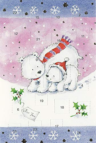 Adventskalenderkarten 5 Stück Nostalgie Weihnachten Grußkarten Goldprägung Kunstkarte Doppelkarte Lustig Weihnachtskarte Adventszeit