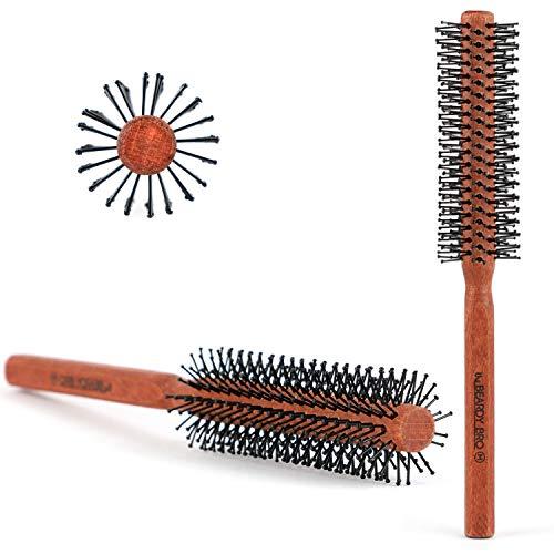 The Beardy Bro I Männer Rundbürste für den Bart und Haare I Bartbürste für den Mann mit Bart I...