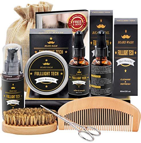 Bartpflege Set Geschenke für Männer mit Bartshampoo,Bartöl Wachstum,Bart Balsam,Bart...