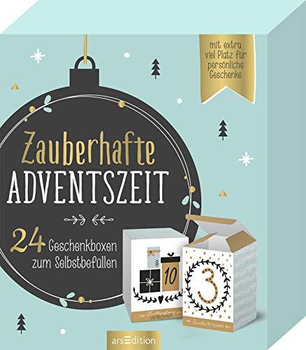 Zauberhafte Adventszeit. 24 Geschenkboxen zum Selbstbefüllen (Adventskalender)