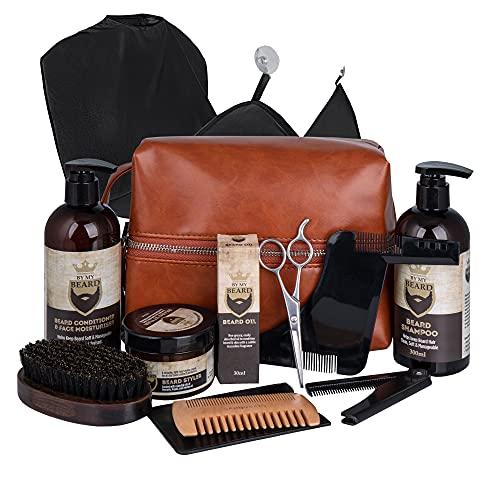 Bartpflegeset für Männer - Beard Growth Kit - Beard Oil, Beard Balm in Bart Set - Bart Pflegeprodukte Set -...