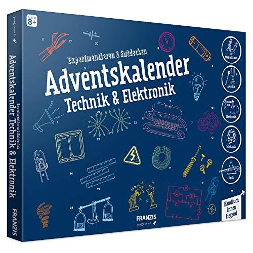 FRANZIS Adventskalender Technik & Elektronik   24 spannende Versuche zum Experimentieren & Entdecken   Auch...