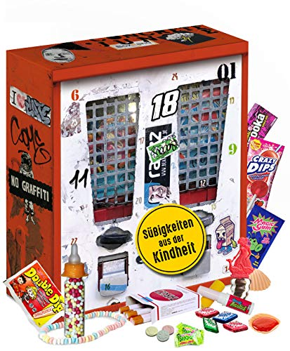 Nostalgie Adventskalender I Kalender mit früheren Süßigkeiten I Geschenkset nostaglisch werden I nostalgische Vorweihnachtszeit für 80er 90er 2000er Erwachsene