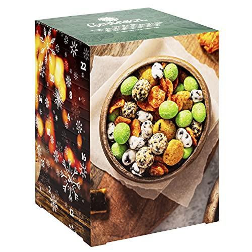 Corasol Premium Snack-Mix Adventskalender XXL 2021 mit 24 herzhaften Knabbereien & Nuss-Snacks (625 g)