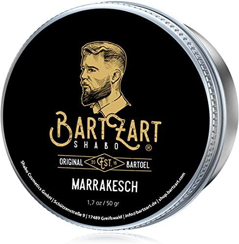 BartZart Marrakesch Bartwachs mit Zedernholz I 50g Bartbalsam für Männer I Bart Balsam mit Arganöl für...