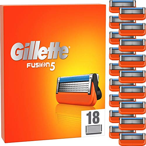 Gillette Fusion 5 Rasierklingen für Männer, 18 Stück, entwickelt mit Anti-Irritations-Klingen, für bis zu...