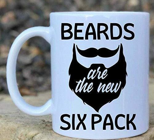 N\A Keramik-Kaffeetasse, rosa Teetasse für Büro und Zuhause, Bärte sind die Neue Six-Pack-Bart-Tasse...