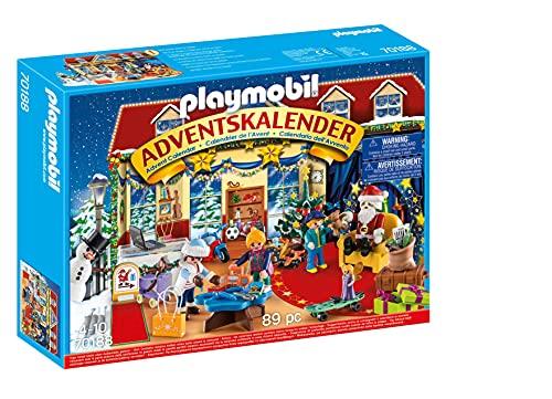 PLAYMOBIL Adventskalender 70188 Weihnachten im Spielwarengeschäft mit liebevollen Figuren und Zubehörteilen hinter jedem Türchen, 89-teilig, Ab 4 Jahren
