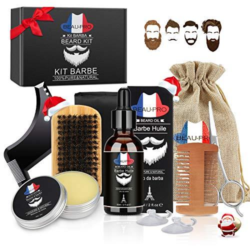 Bartpflege Set Bartpflegeset Männer Bartbürste Set Bart Set Männer pflege Bartwuchsmittel...