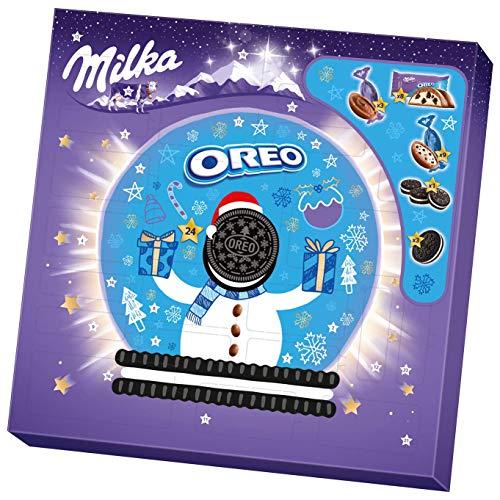 Milka und OREO Adventskalender 1 x 286g, Kalender mit verschiedenen Milka und OREO Süßigkeiten