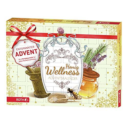 ROTH Honig-Wellness-Adventskalender 2021 gefüllt Honig-Wellnessartikeln, Entspannungs-Kalender zur Vorweihnachtszeit