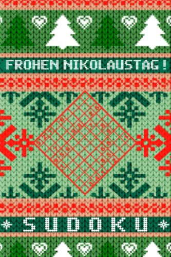 Nikolaus Sudoku: Mini Rätselbuch in A6 Format | Passt in den Stiefel | Kleines Nikolausgeschenk für Erwachsene | Tolle Kleinigkeit für Rätselfreunde