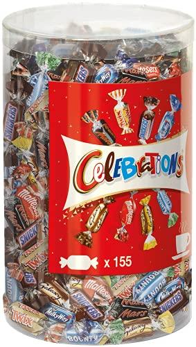 Celebrations Blisterbox, Mini-Schokoriegel Mix, 155 Pralinen, Großpackung Schokolade, 1.4 kg