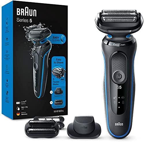 Braun Series 5s Rasierer Herren, Einfache Rasur & Reinigung, Präzisionstrimmer, 3-Tage-Bart-Trimmer, Wet&Dry,...