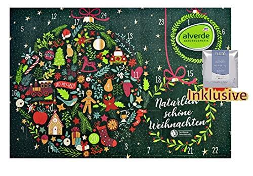 Alverde Naturkosmetik Adventskalender 2021 Frauen Beauty - Kosmetik Advent Kalender für Frau & Mädchen, 24 Geschenke Wert 90€, Pflege Weihnachtskalender