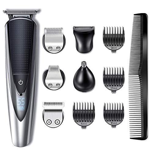 Hatteker Bartschneider Haarschneider Herren Haarschneidemaschine Haartrimmer Bartschneider Bart Trimmer Nasentrimmer Körper Goomer Wasserdichter 5 in 1