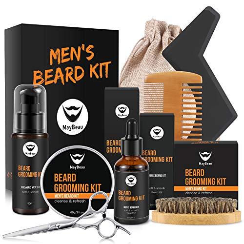 MayBeau Bartpflege Set für Männer Bart Styling Reinigung Kit mit Bartshampoo Bartwachs Bartöl...
