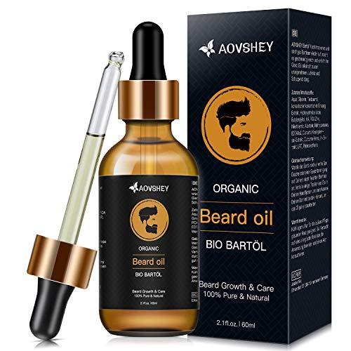 AOVSHEY Bartöl 60ML Bartöl Herren, Bart öl Bartpflege für einen Kräftigen Bart, Beard Oil für die Pflege...