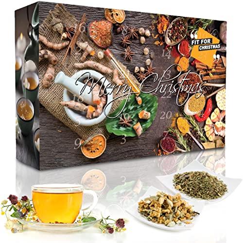 C&T Tee Adventskalender 2021 'Fit for Christmas' | 24 Wellness + ausgewählte Wohlfühl- und Fitness-Tees | Weihnachtskalender