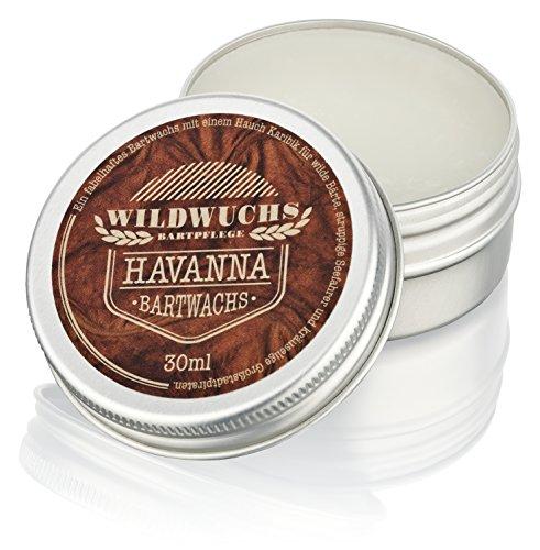 Bartwachs HAVANNA von Wildwuchs Bartpflege - Natürliches Beard Balm und Bart Balsam für einen gepflegten...