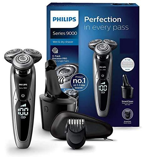 Philips Series 9000 Elektrischer Nass- und Trockenrasierer S9711/31, Gründliche & sanfte Rasur, ideal für...