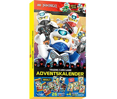 Next Level Lego Ninjago 5 Trading Cards - Adventskalender 2020 - Deutsch + 40 Collect-it Hüllen Sleeves