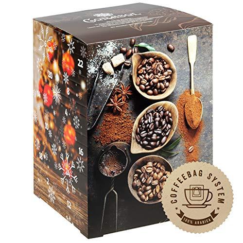 Corasol Premium Flavoured Coffee Kaffee-Adventskalender XL 2021, 24 aromatisierte Kaffee-Kreationen im Coffeebag für Genießer (240 g)