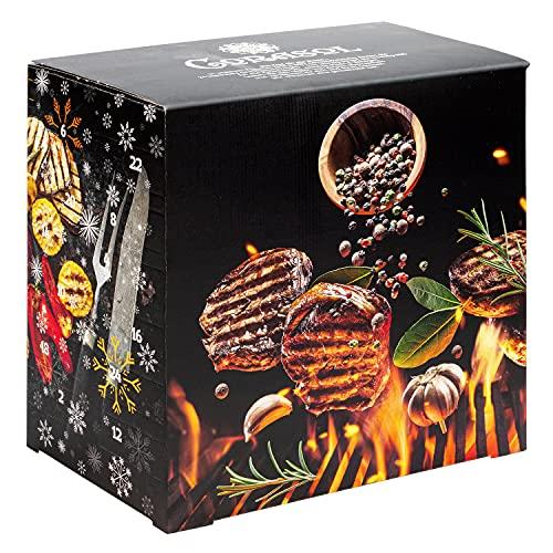 Corasol Premium BBQ & Grillgewürze Adventskalender XL 2021 mit 24 Gewürz-Mischungen und Rezept-Booklet, die Gewürz Gourmet Geschenkidee (284 g)