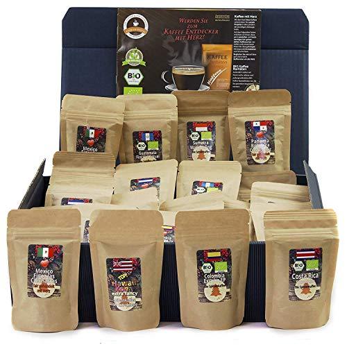 C&T Kaffee-Geschenkset Bio/Fair 24 Päckchen á 20 g (Ganze Bohnen) mit 24 Biologischen, Raritäten- und Fair...