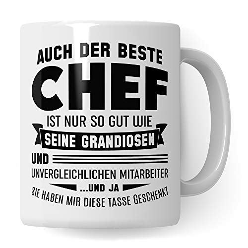 Pagma Druck Chef Tasse, Unvergessliche Mitarbeiter, Geschenke für den Chef Boss Becher, Kaffeetasse Chef Geschenkidee Vorgesetzter Personalchef, Geburtstag Abschied Teetasse