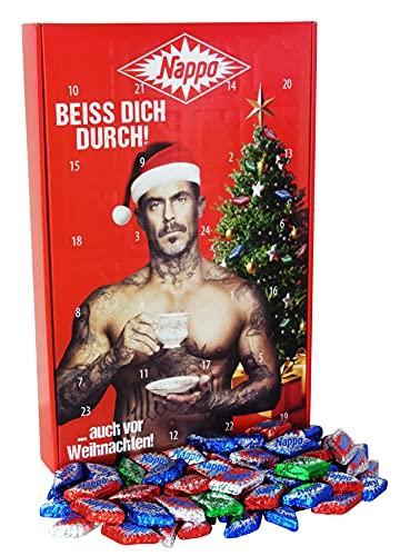 Nappo Adventskalender Schokolade, Adventskalender Süßigkeiten mit 496g feinstem Holländischem Nougat