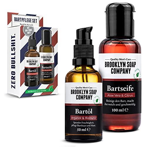 Bartpflege Set - Das Vorteilsset für Männer · Bartshampoo & Bartöl mit Gin Tonic Duft · Brooklyn Soap Company