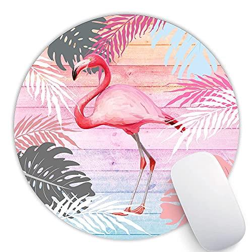 Flamingo Gaming Mauspad, Farbige Holzbretter Personalisiertes Design, Schreibtischzubehör, Flamingo Liebhaber Geschenke, Mitarbeiter Geschenke, Rutschfest, Wasserdicht, Genähte Kanten