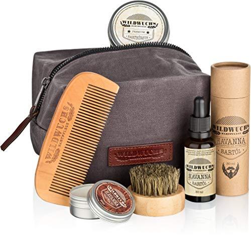 Bartpflegeset Männer hochwertig komplett von Wildwuchs Bartpflege - Bartpflege Set für gesundes Bartwachstum...