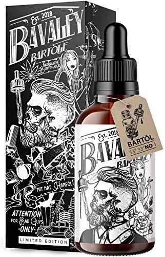 *NEU* Original BAVALEY Bartöl für echte Männer I 50ml Natürliches Bartöl Herren mit Hanf Extrakt I...
