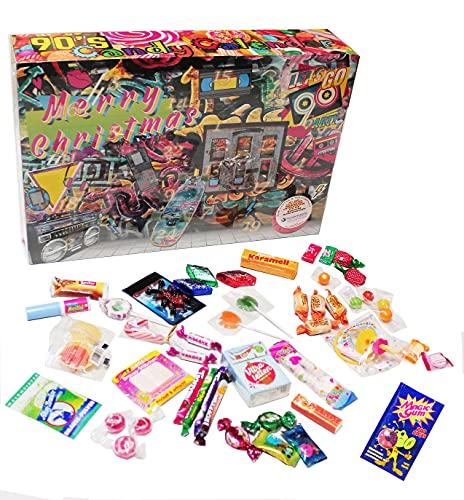 C&T 90er Süßigkeiten Adventskalender 2021 | 24x Retro Candy der neunziger Jahre | Vintage Nostalgie Weihnachts-Kalender mit Süßigkeiten aus der Kindheit