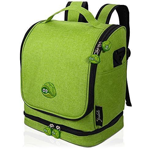 fridoli Kinderrucksack für Toniebox und Zubehör   grün   Akku Aufladen in der Toniebox Tasche   auch für Tigerbox Touch geeignet   Kita Rucksack