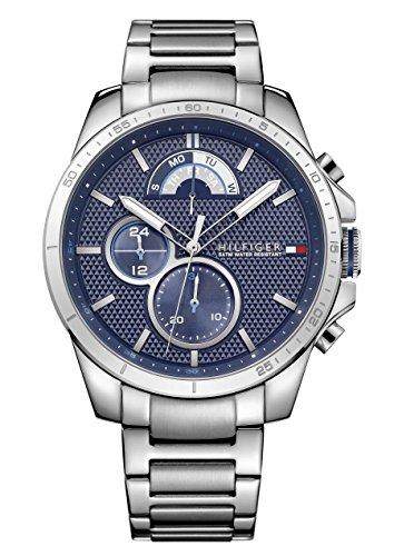 Tommy Hilfiger Herren-Armbanduhr Decker, silber