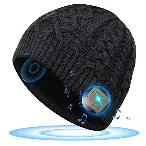SOOFUN Bluetooth Mütze Geschenke für Frauen und Männer - Adventskalender 2021 Mütze Herren Winter, Wichtelgeschenk Mütze mit Bluetooth Kopfhörer, Musik Mütze Damen für Laufen, Walken