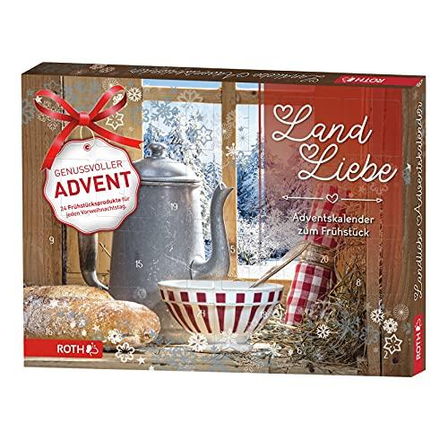 ROTH Land & Liebe-Adventskalender 2021 gefüllt mit hochwertigen Aufstrichen und Genussartikeln, Frühstücks-Kalender für die Vorweihnachtszeit