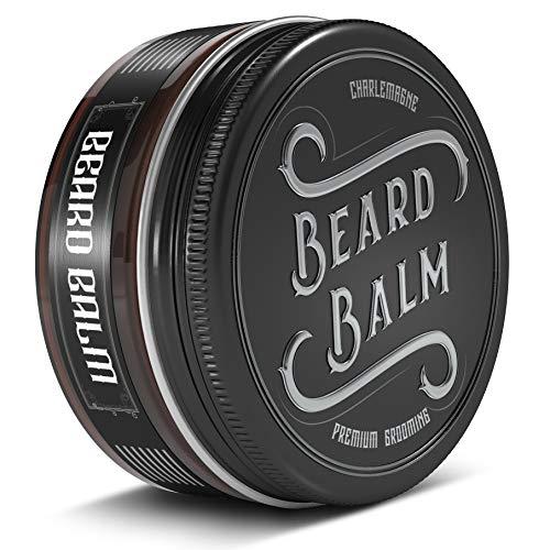 Charlemagne Beard Balm - 100% natürliches Bartbalsam Männer - Bartcreme Bart Balsam für die tägliche...
