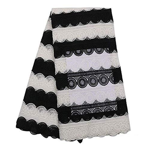 HYLH Nigerian Schnürsenkel Stoff Afrikanische Schnürsenkel Stoff für Hochzeitskleid Französisch Cord Lace Ribbon