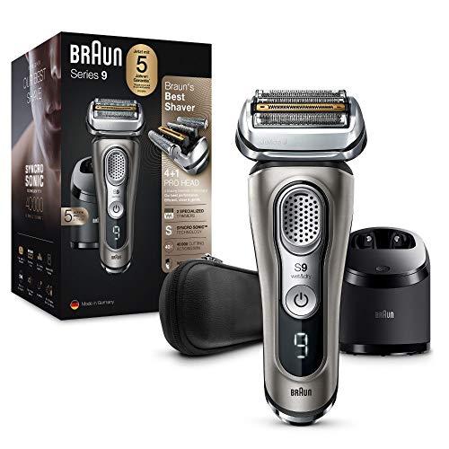 Braun Series 9 Premium Rasierer Herren mit 4+1 Scherkopf, Elektrorasierer & Präzisionstrimmer, Reinigungs- &...