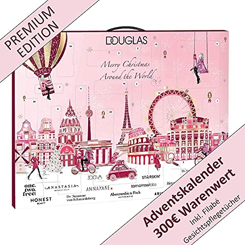 DOUGLAS Adventskalender 2021 Beauty -Premium EDITION- Frauen + Mädchen Kosmetik Advent Kalender , 24 Kosmetik...