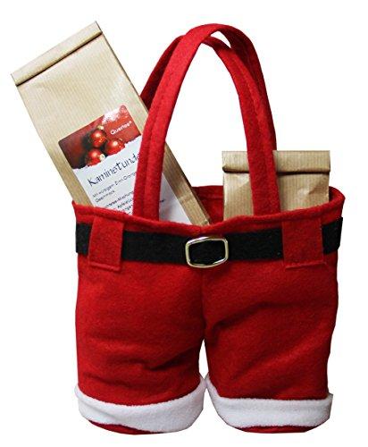 Teegeschenk Quertee® Nr. 32 - Wintertee Weihnachtstee in der 'Hose vom Weihnachtsmann' gefüllt mit 100 g...